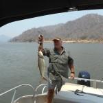Mike and a fish on the Zambezi