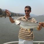 Fishing on Zambezi river for tiger fish and catfish