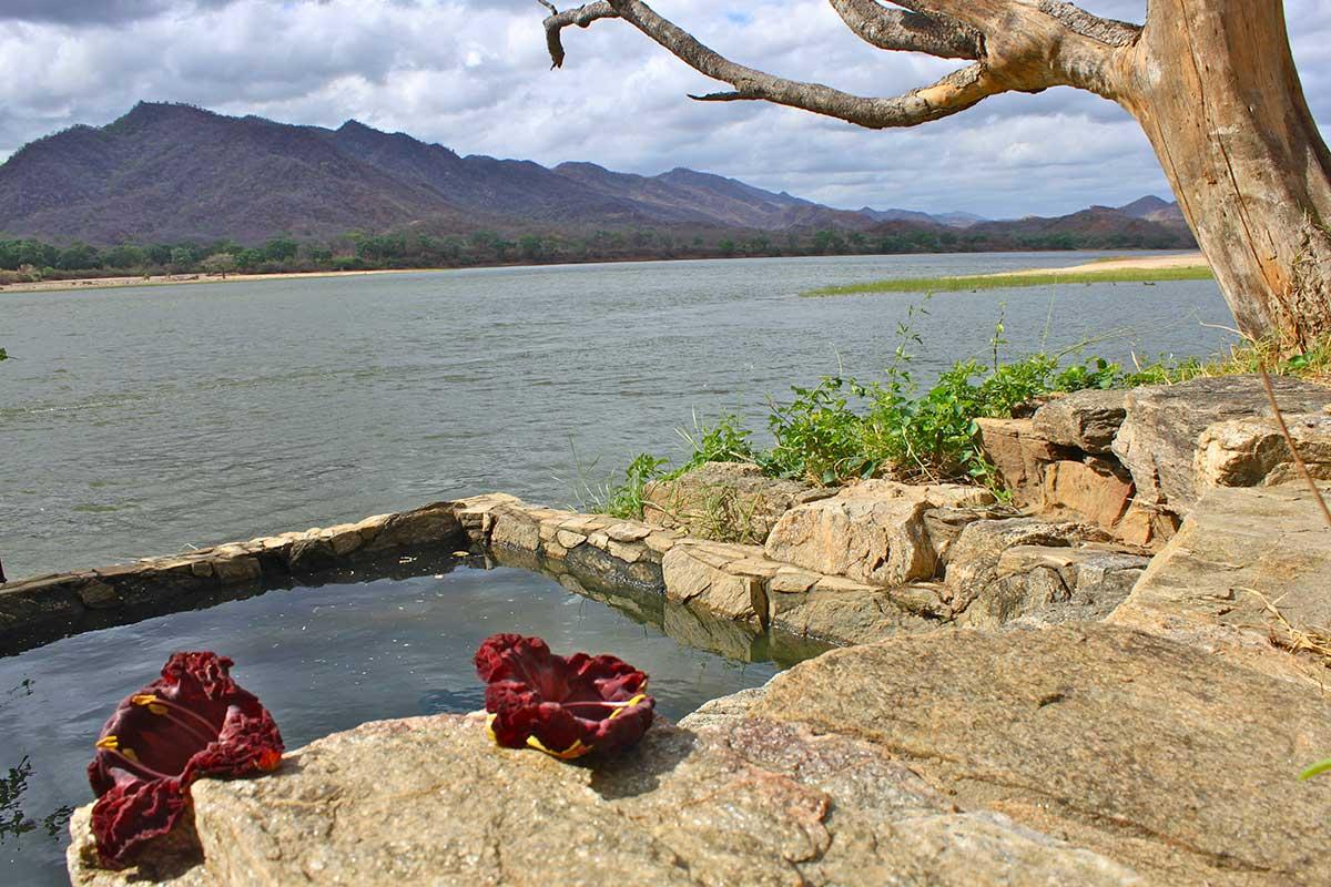 Plunge pool at kingfisher fishing lodge on zambezi