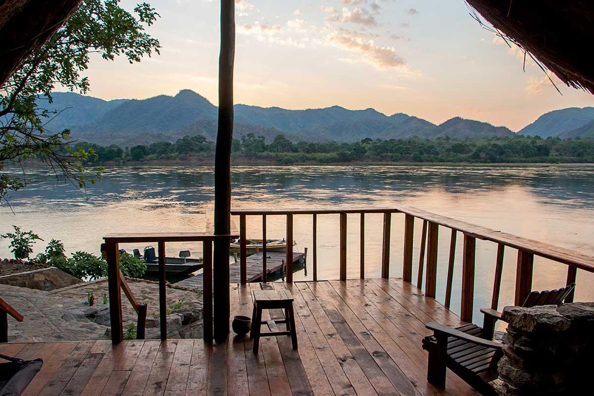 view from zambezi fishing lodge